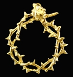 Crown of thorns jewelry pendants rings wedding rings by brad crown of thorns original pendant aloadofball Images
